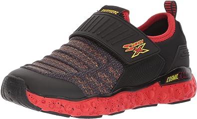 Skechers Cosmic Foam Velcro-Closure Embossed Mesh Sneakers with Pull Tab for Boys