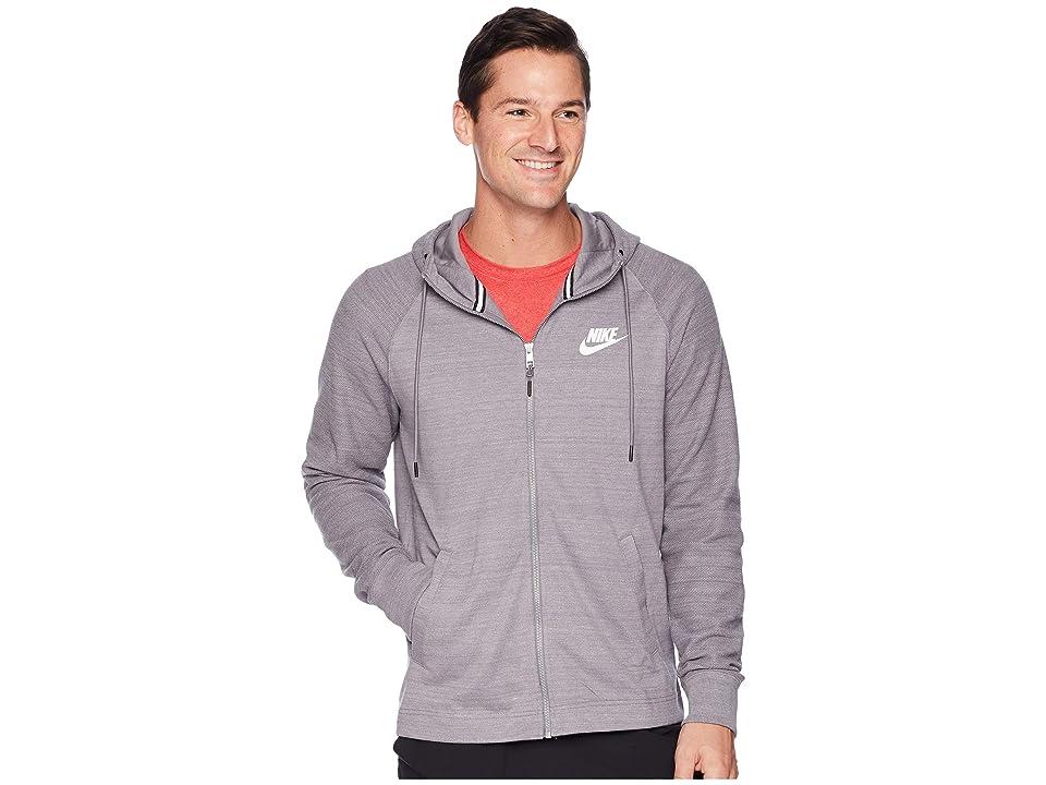 Nike NSW AV15 Hoodie Full-Zip Knit (Gunsmoke/Heather/White) Men