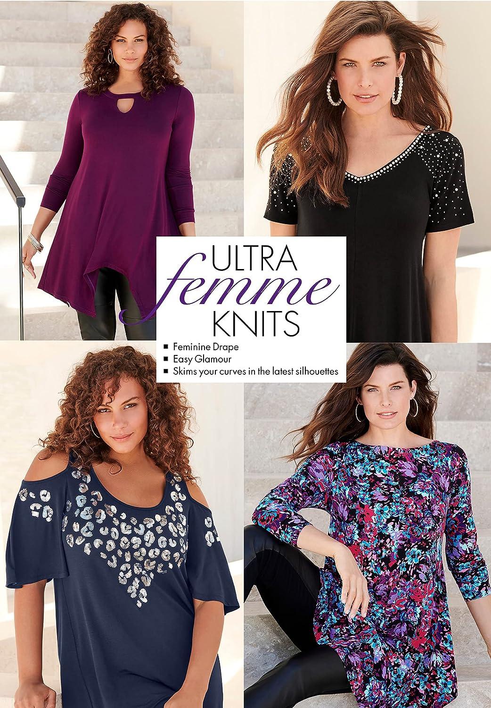 Roaman's Women's Plus Size Front-Knot Ultra Femme Tunic
