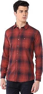 Men Cotton Casual Small Check Shirt