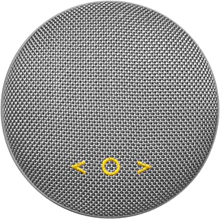 Portable Wireless Bluetooth Speaker Q6 Stereo Waterproof Speakers with Bluetooth 4.2,Built-in-MIC,Hands-Free Call,Aux line,Enhanced Bass and Magnetic Mount (Gray)