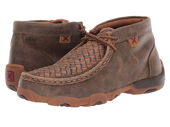 Twisted X  Driving Moc (Little Kid/Big Kid) (Bomber/Tan) Shoes