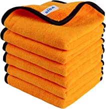 MR.SIGA Professional Premium Microfiber Towels for Household Cleaning, Dual-Sided Car Washing and Detailing Towels, Gold, 15.7 x 23.6 inch, 6 Pack