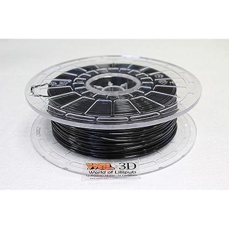 WOL 3D 3D Filament 1.75 mm 500 g Specially for Flashforge 3D Printer/Adventurer 3/Finder/Dreamer (Black)