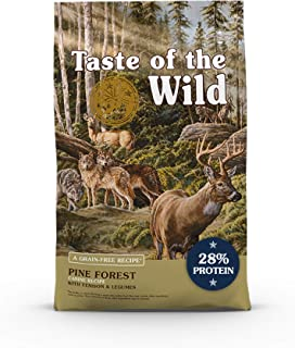 Taste of The Wild Grain Free High Protein Real Meat Recipe Pine Forest Preium Dry Dog Food with Venison & Legumes 2.27kg