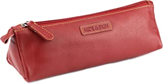 Hide & Skin # Genuine Leather # Red # Utility Pouch # for Men and Women (Fiery RED)
