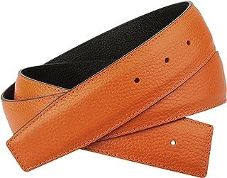 9c23343655 Erdi Ünver Ceinture orange réversible en cuir véritable pour hommes et  femmes ceinture de 4