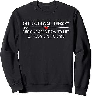 Occupational Therapy Therapist Assistant Heart OT Teen Women Sweatshirt