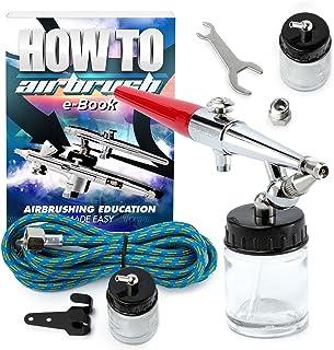 PointZero Premium Single Action 22cc Siphon Feed Airbrush Set - .8mm