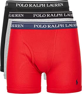 POLO RALPH LAUREN Classic Fit w/Wicking 3-Pack Boxer Briefs Andover Heather/Rl2000 Red/Black MD