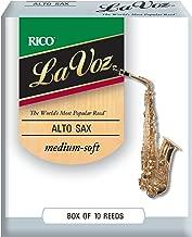 D'Addario Woodwinds La Voz Alto Sax Reeds, Strength Medium-Soft, 10-pack - RJC10MS