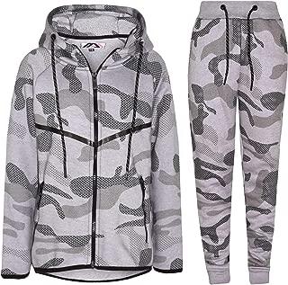 Mymixtrendz Boys Contrast Camouflage Print Tracksuit Sweat Top /& Jogging Track