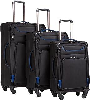 Coolife Luggage 3 Piece Set Chefit Spinner Softshell سبک وزن