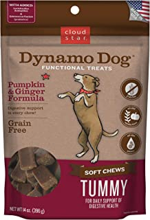 Cloud Star Dynamo Dog Digestive Support Soft Chew Treats, Grain Free with Pumpkin, Ginger, & Probiotics, 14oz.