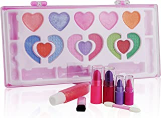 Pinkleaf Kids Makeup Kit for Girl, Washable Kid's Makeup Palette Cosmetics Gift Set, All-in-One Real Kids Makeup Kit, Safety Tested- Non Toxic, Best Kids Fun, Beauty, Gift Set for All Occasions,