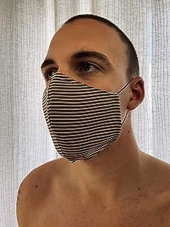Mascherina Unisex Lavabile 100% cotone da ufficio marrone