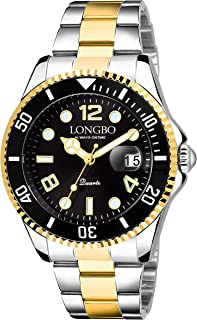 LONGBO Analogue Men's Watch (Blue Dial Silver Colored Strap)