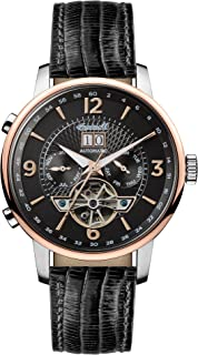 Men's The Grafton Automatic Watch with Black Dial and Black Leather Strap I00702