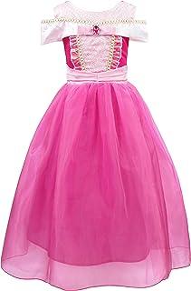 AmzBarley Aurora Dress Costume Girls Princess Fancy Party Birthday Cosplay Kids Dress Up Performance Clothes