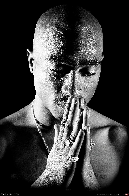 "Amazon.com: Trends International Tupac - Praying Wall Poster, 22.375"" x  34"", Premium Unframed: Home & Kitchen"