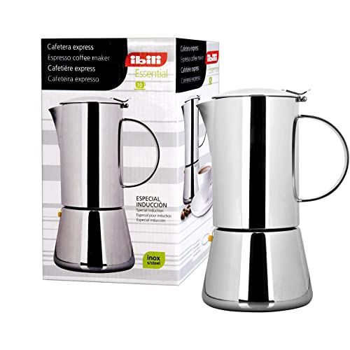 Ibili 620302 Cafetière Express Essential 2 Tasses Inox 18/10