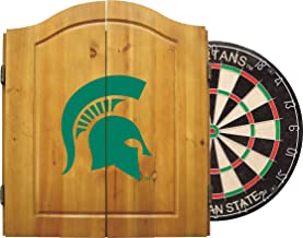 Imperial NCAA Dart Cabinet Set w/Steel Tip Bristle Dartboard.