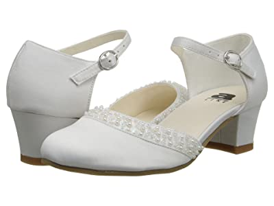 Amiana 6-A0684 (Toddler/Little Kid/Big Kid/Adult) (White Satin 1) Girls Shoes