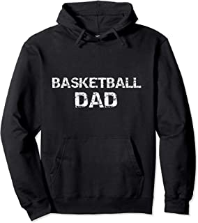 Sports Father's Day Gift for Men Distressed Basketball Dad Pullover Hoodie