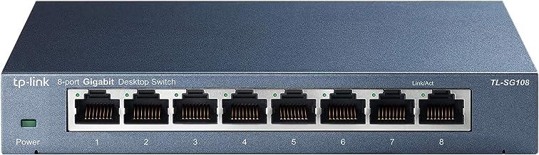 TP-Link 8-poorts Desktop Gigabit Switch, 8 10/100 / 1000M RJ45-poorten, metalen behuizing (TL-SG108)