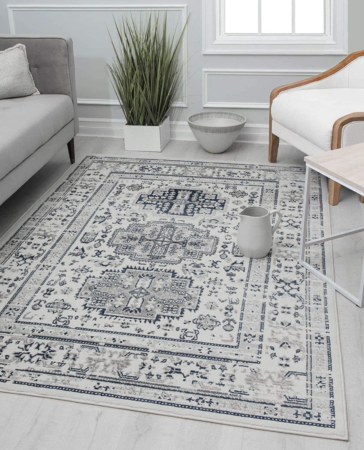 Rugs America Special sale item GL55A Area Rug Max 43% OFF 7' x Glacial 5'3