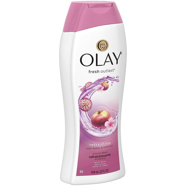 Olay Fresh Outlast Body Wash, Star Apple & Hibiscus, 22 oz