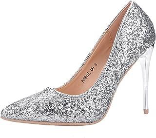 LAROSA ROSE (LA-BONNIE9 Sexy Stiletto Dressy Heels Glitter Party Pumps, Wedding Shoes Evening Dress Heels for Women