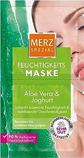 Merz Spezial Feuchtigkeits-Maske – Gesichtsmaske mit Aloe Vera, Joghurt, Panthenol & Hyaluronsäure – Verbessert die Hautelastizität – 1 x 15 ml
