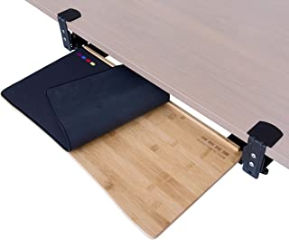 Easy Clamp On Large Keyboard Tray Under Desk (26