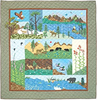Patch Magic Twin Natures Splendor Quilt, 65-Inch by 85-Inch