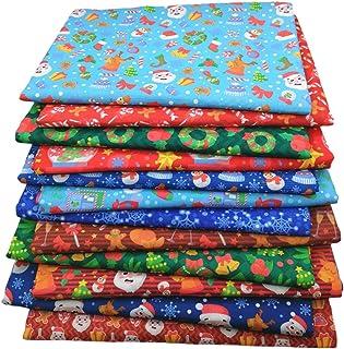 12 PCS Tema de Natal de Tecido de Algodão Quadrado Pacote de Tecido de Natal para Costura de Acolchoado, decorações DIY, S...