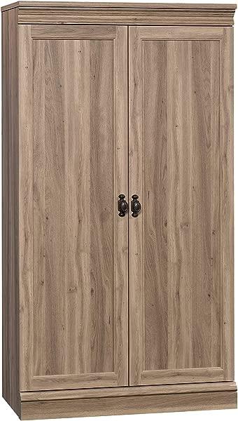 Sauder 422789 Barrister Lane Storage Cabinet L 32 60 X W 16 50 X H 59 80 Salt Oak Finish