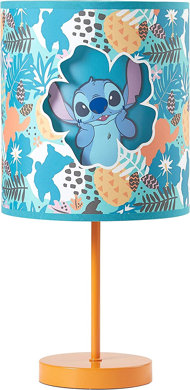 Idea Nuova NK321356 Lilo and Stitch Double Shade Table Lamp, Teal