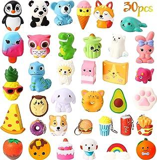 WATINC 25Pcs Jumbo Squishies Toy and 5Pcs Mini Food Squishies Cream Scented Panda Donuts Bunny Squishies for Kids Home Déc...