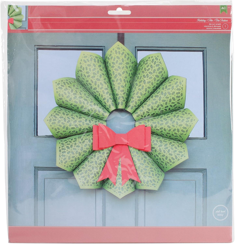 Christmas Cardstock Wreath Kit-W Die-Cut Bow Bow Bow B00OJFZ548   | Spezielle Funktion  d1c843