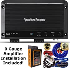 Rockford Fosgate R1200-1D Prime 1200 Watts Class D 1-Channel Amplifier + 0 Gauge Amp Kit