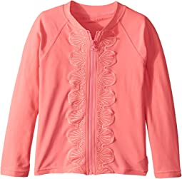 Seafolly Kids - Sweet Summer Long Sleeve Zip Front Rashie (Infant/Toddler/Little Kids)