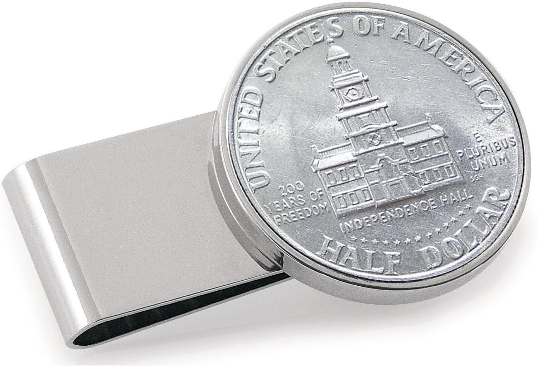 JFK Bicentennial Half Dollar Stainless Genuine Free Shipping Coin Clip Max 88% OFF Money Steel