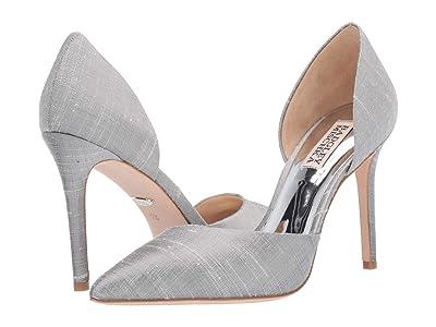Badgley Mischka Lola (Silver Indian Silk) High Heels