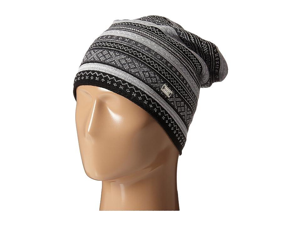 Dale of Norway Vinje Hat (Black/Off White/Light Charcoal/Dark Charcoal) Knit Hats
