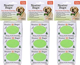 Neater Bag Dispenser Refills - Neater Bag Bundles - Dog Waste Poop Bags with Easy-tie Handles (not on Rolls)