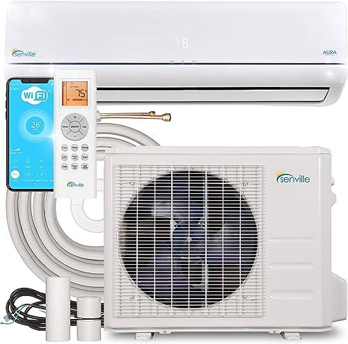 Senville 12000 BTU SENA-12HF/Z Energy Star Mini Split Air Conditioner Heat Pump, White