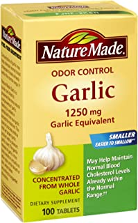 Nature Made Nat Made Garlic Odrls 1250 Mg 100 Tb, Pack of 3