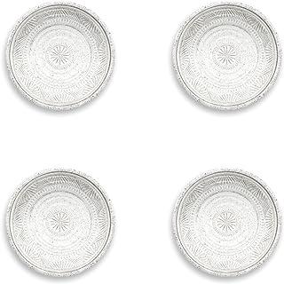 Epicurean Artisan Pearl - Juego de 4 platos de melamina (21 cm)