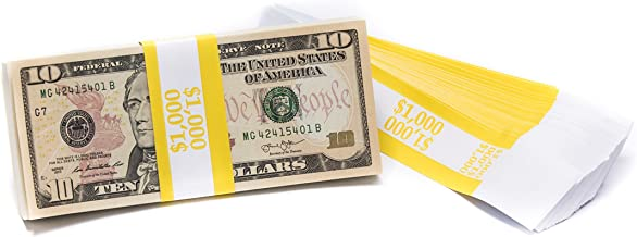 Barred ABA $1,000 Currency Band Bundles (500 Bands)